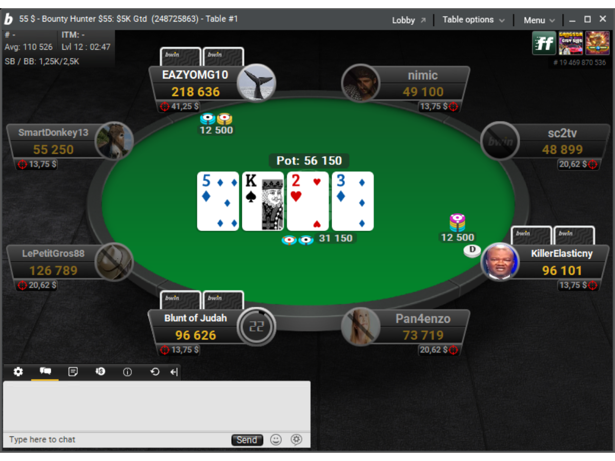 bwin poker стол